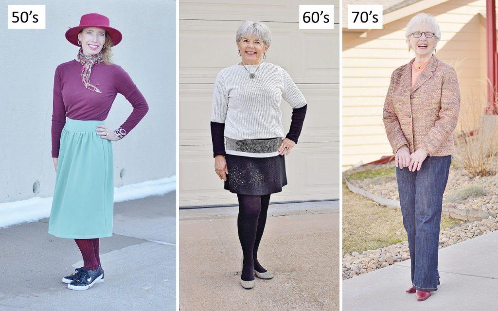Sweater cardigans worn a variety of ways.