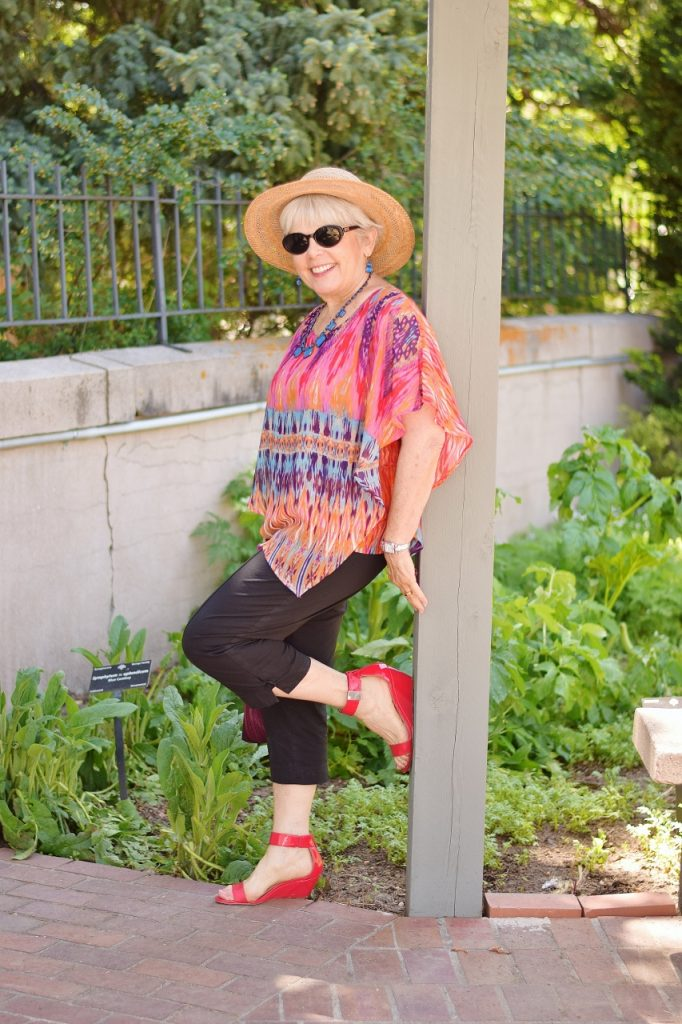 2c7077e740e0 Capris and a flowy Top for Women 60+ and their Summer Event Style