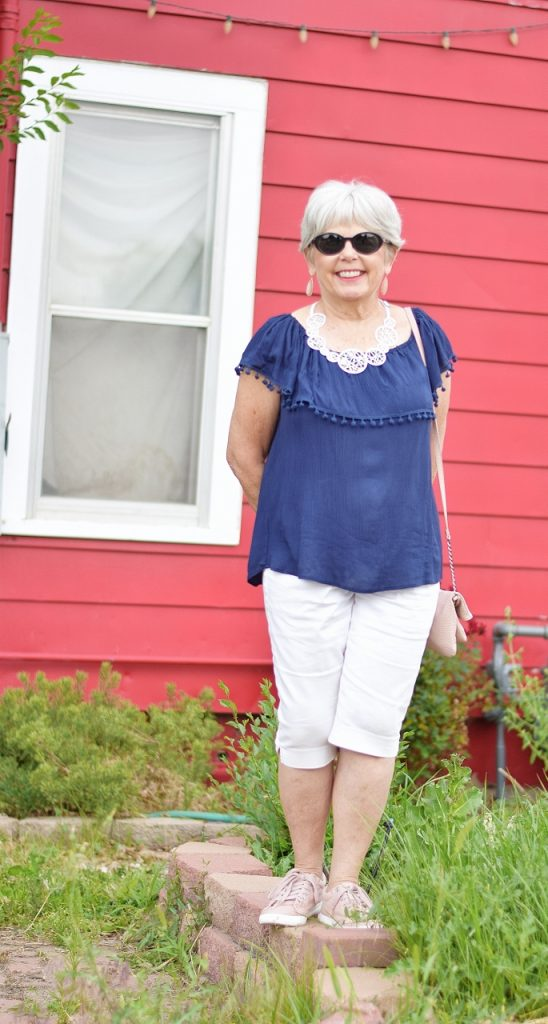 Summer shirts casual outfit for 60+ woman