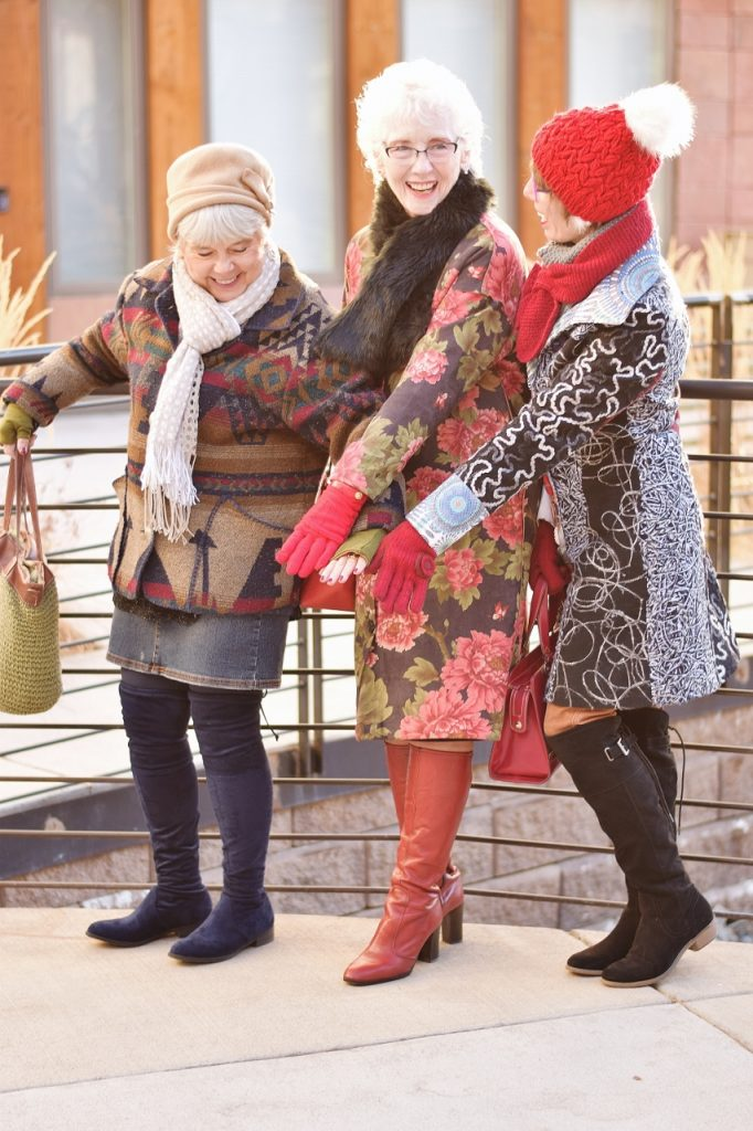 Winter Accessories for Women styled with print coats
