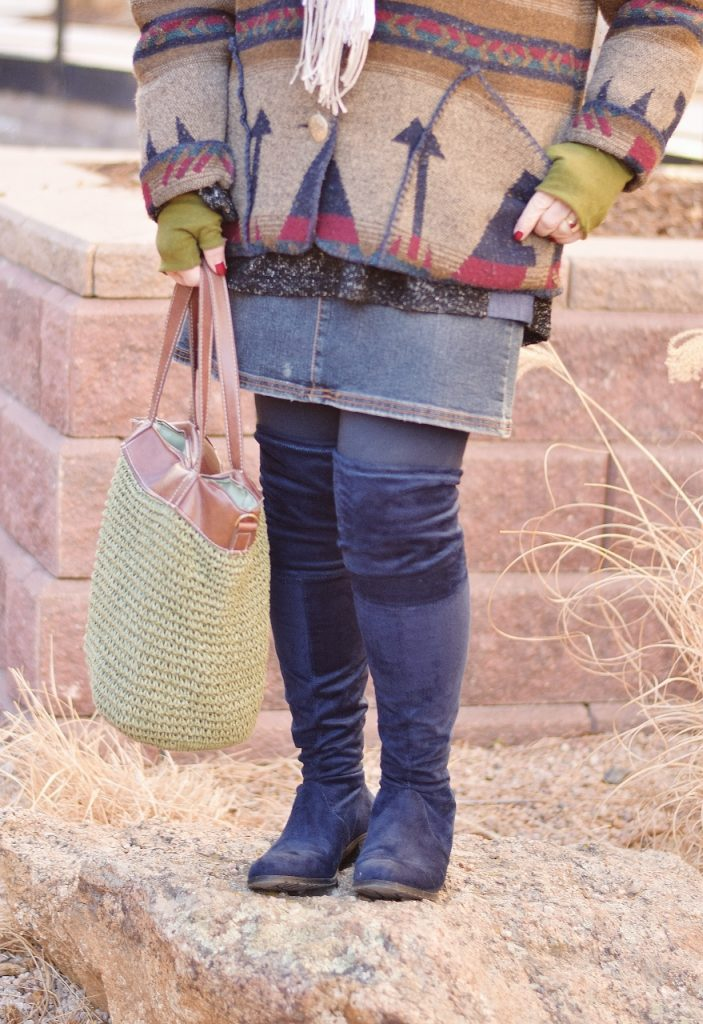 Winter Accessories with over the knee boots