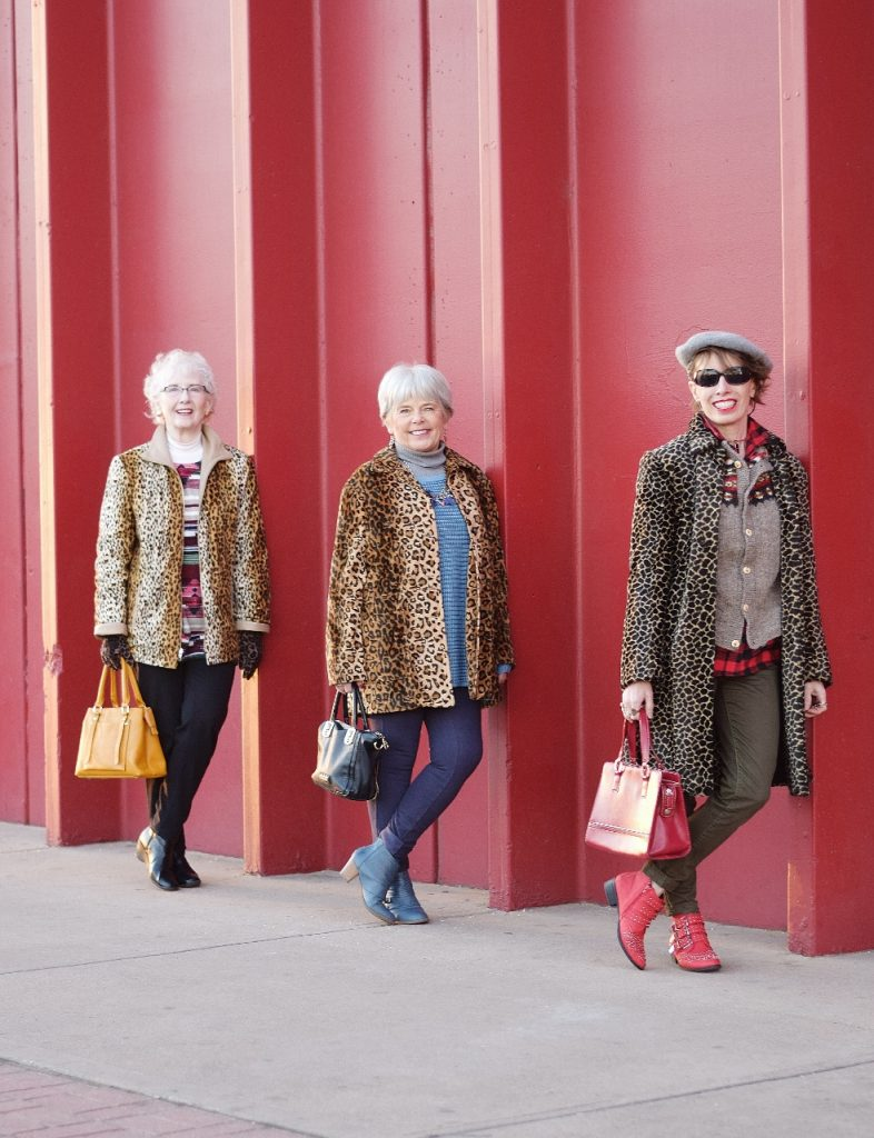 Leopard coats for Women with casual