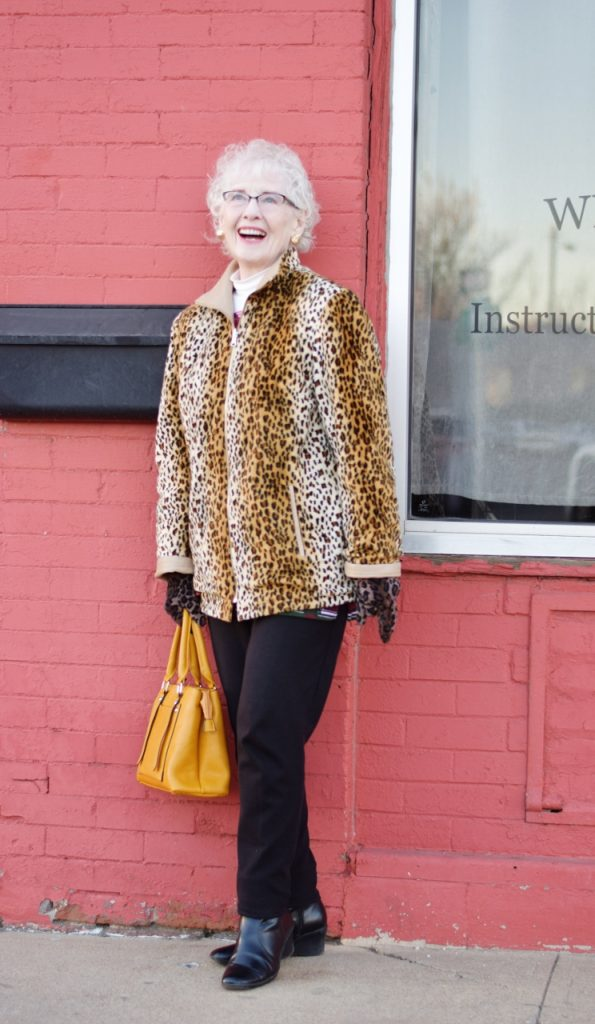 Leopard coats for Women age 70+