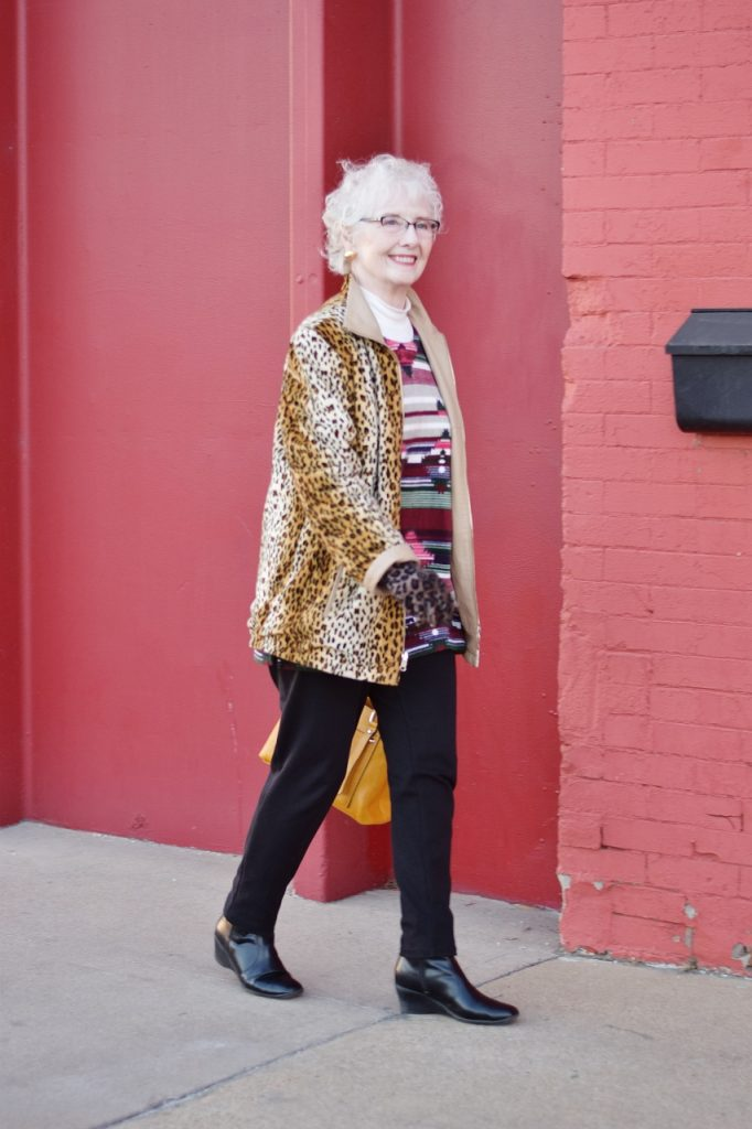 Leopard coats for Women in midlife
