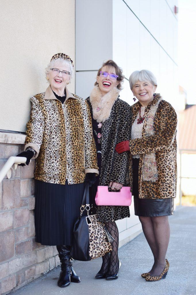 Leopard Coats for 3 generations of women