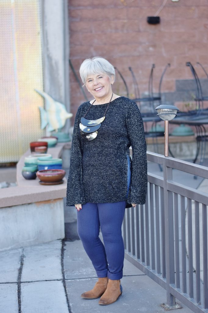 Sweater Weather fashioned for women age 60+