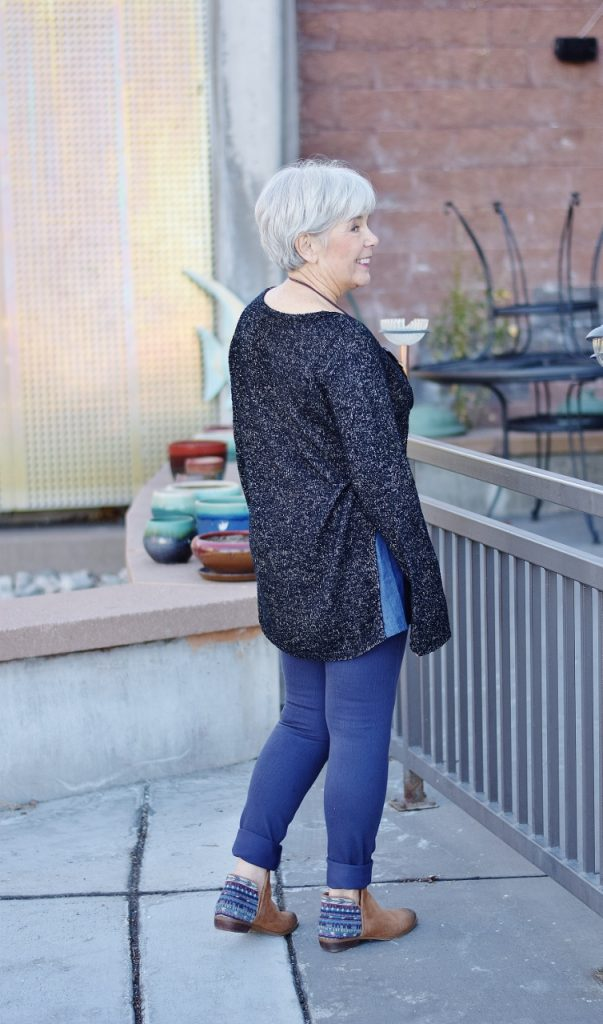 Sweater Weather fashioned for ladies in their 60's