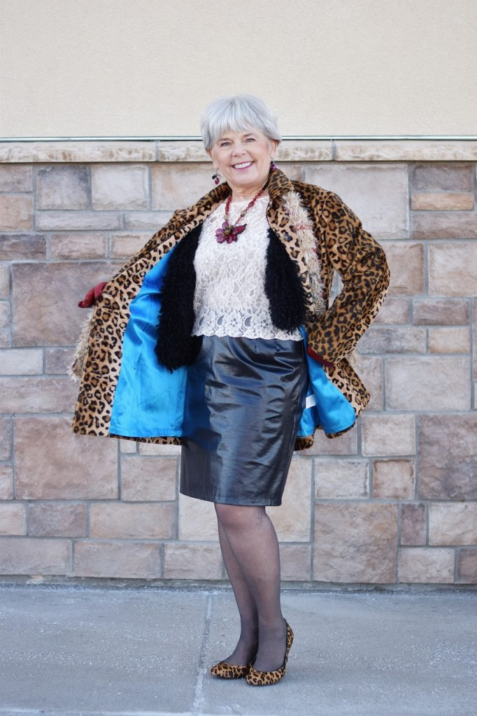 Leopard Coats with fun lining