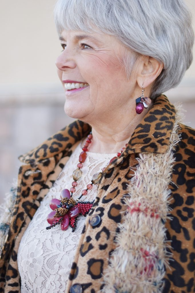 Leopard Coats for a woman from a thrift store