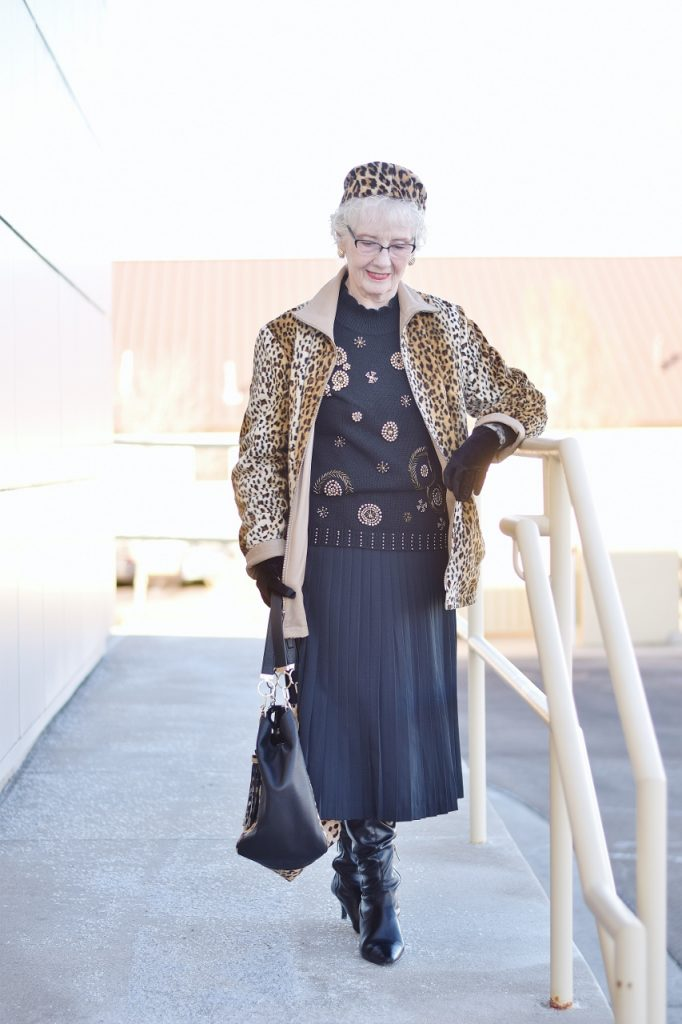 Leopard Coats for women over 70