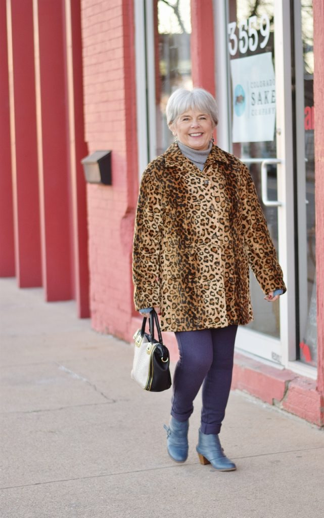 Leopard coats for Women as vintage style
