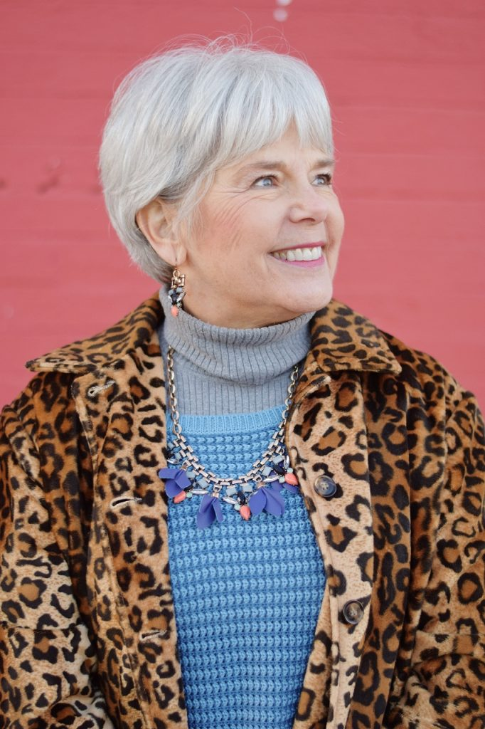 Leopard coats for Women age 60+