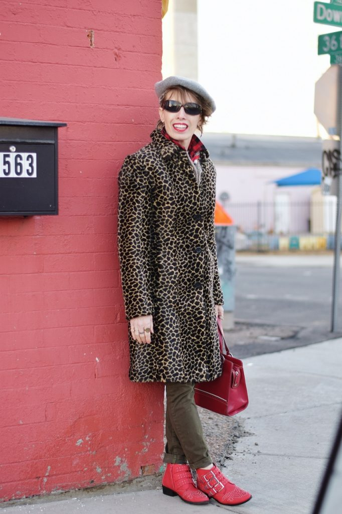 Leopard coats for Women age 50+