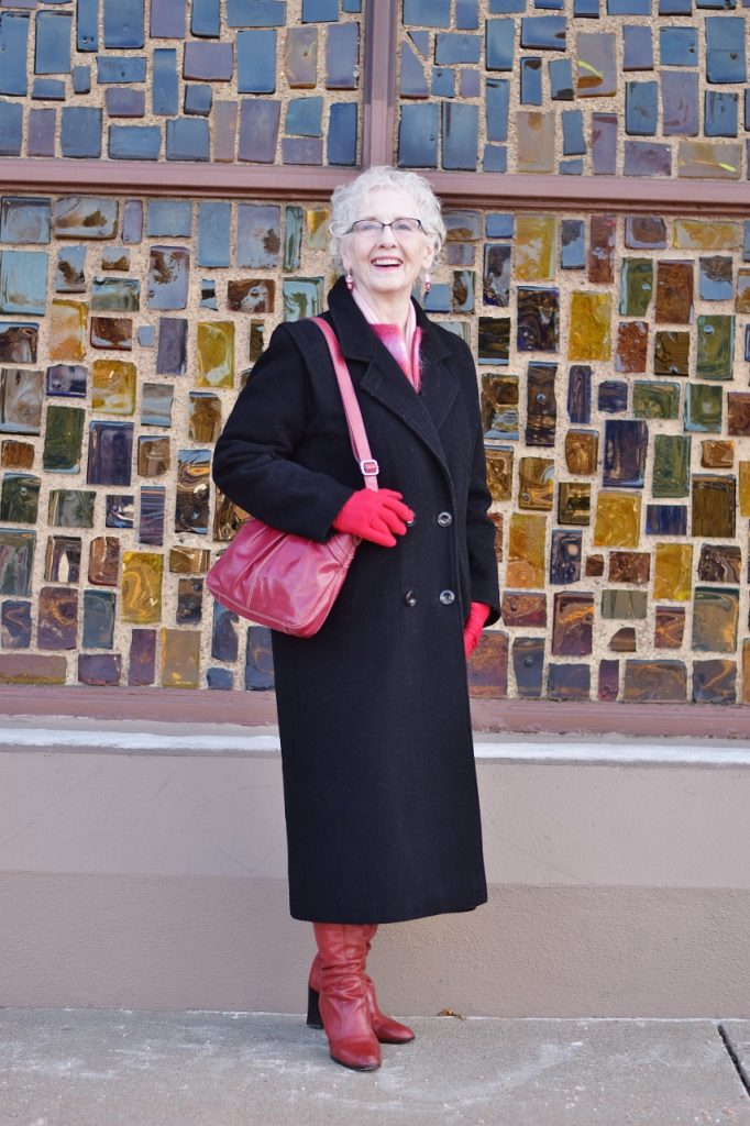 Layer your long coat for women over 70