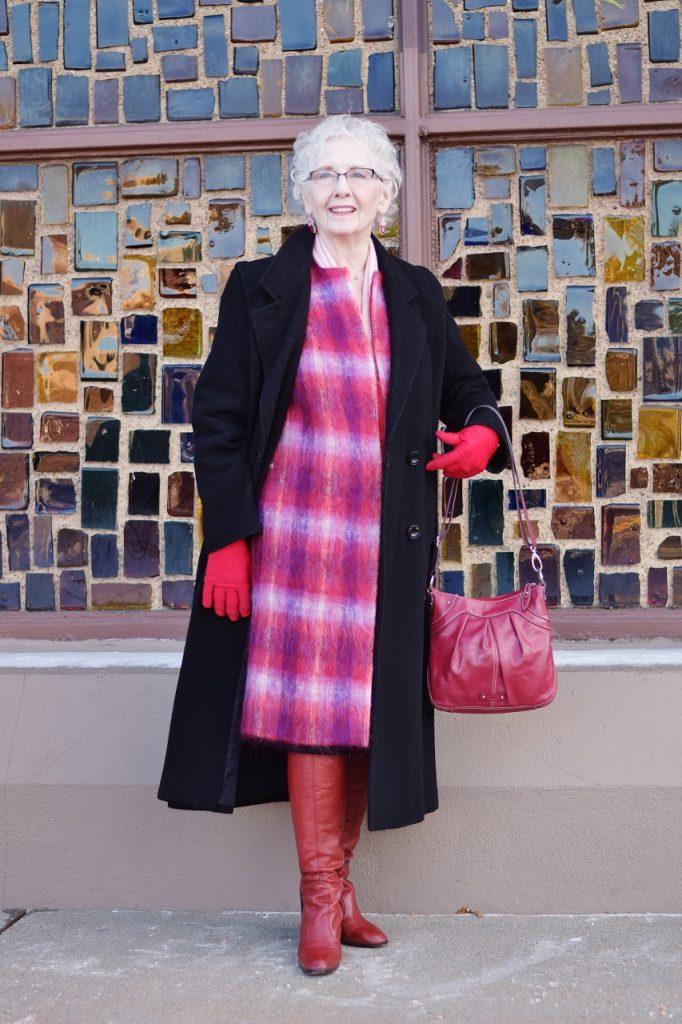 Layer your long coat ladies 70+