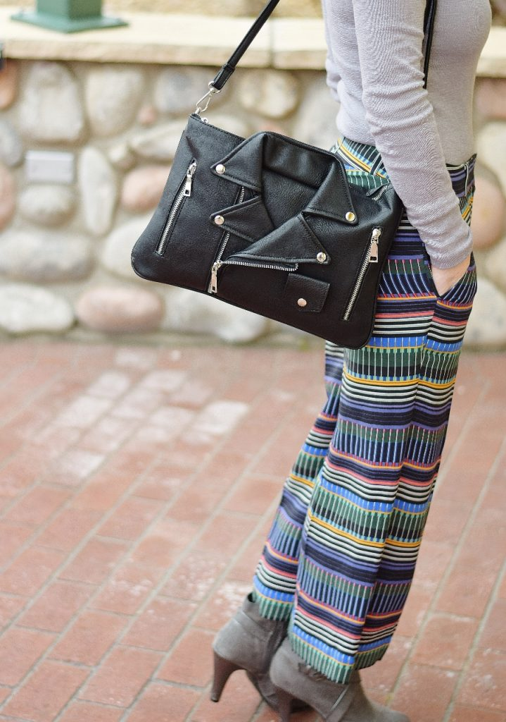 Minimalist outfits and a fun purse
