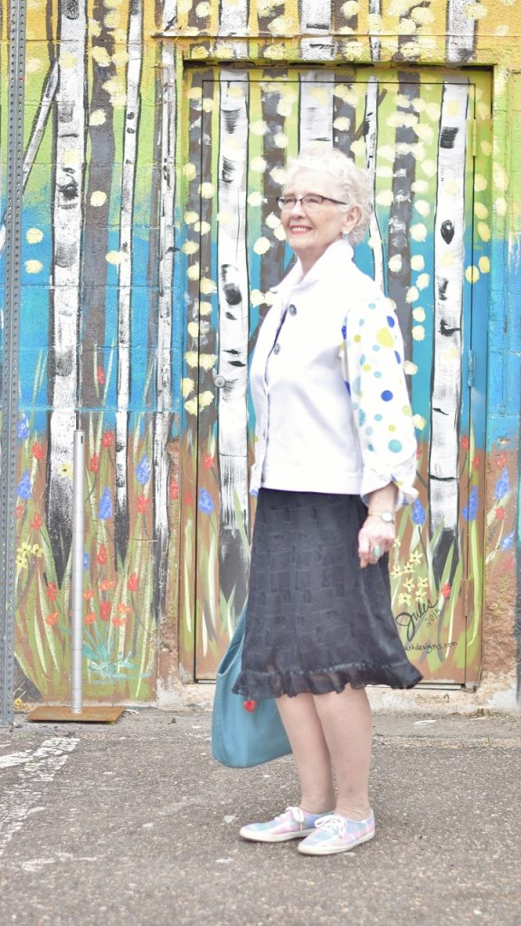 making your black dress style work for older women
