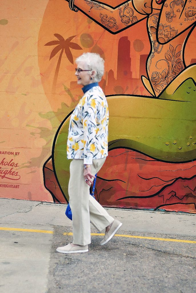 Styling yellow items for women over 80
