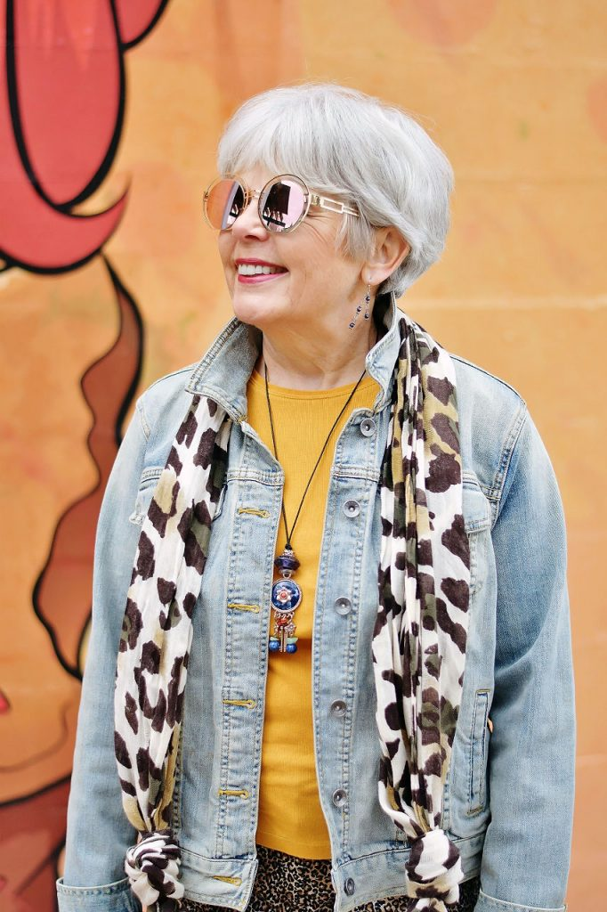 Styling yellow items with leopard & denim
