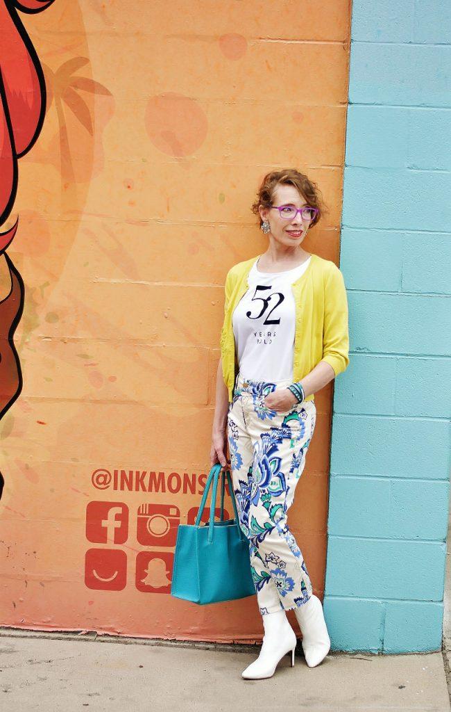 Wearing yellow items for bolder women