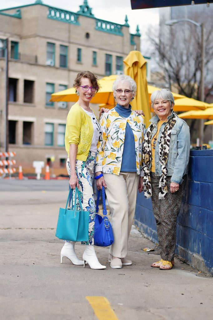 Wearing yellow items for women over 50
