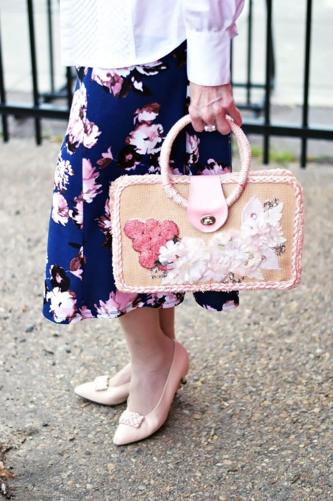 The magic of a White button down with a floral skirt