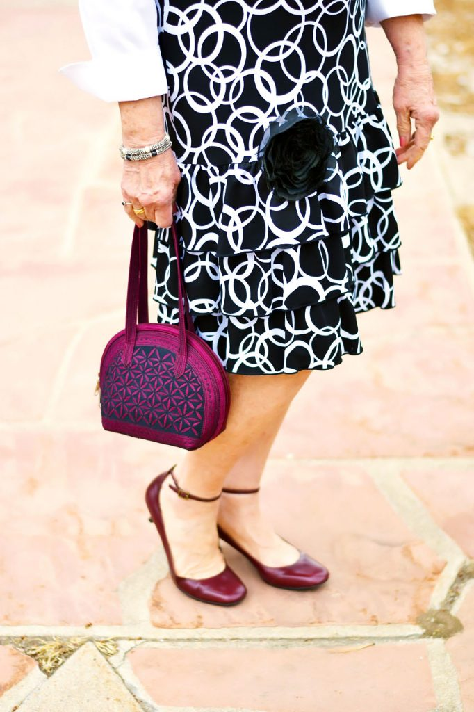 How to Style a Button Down Shirt under a dress for women over 60