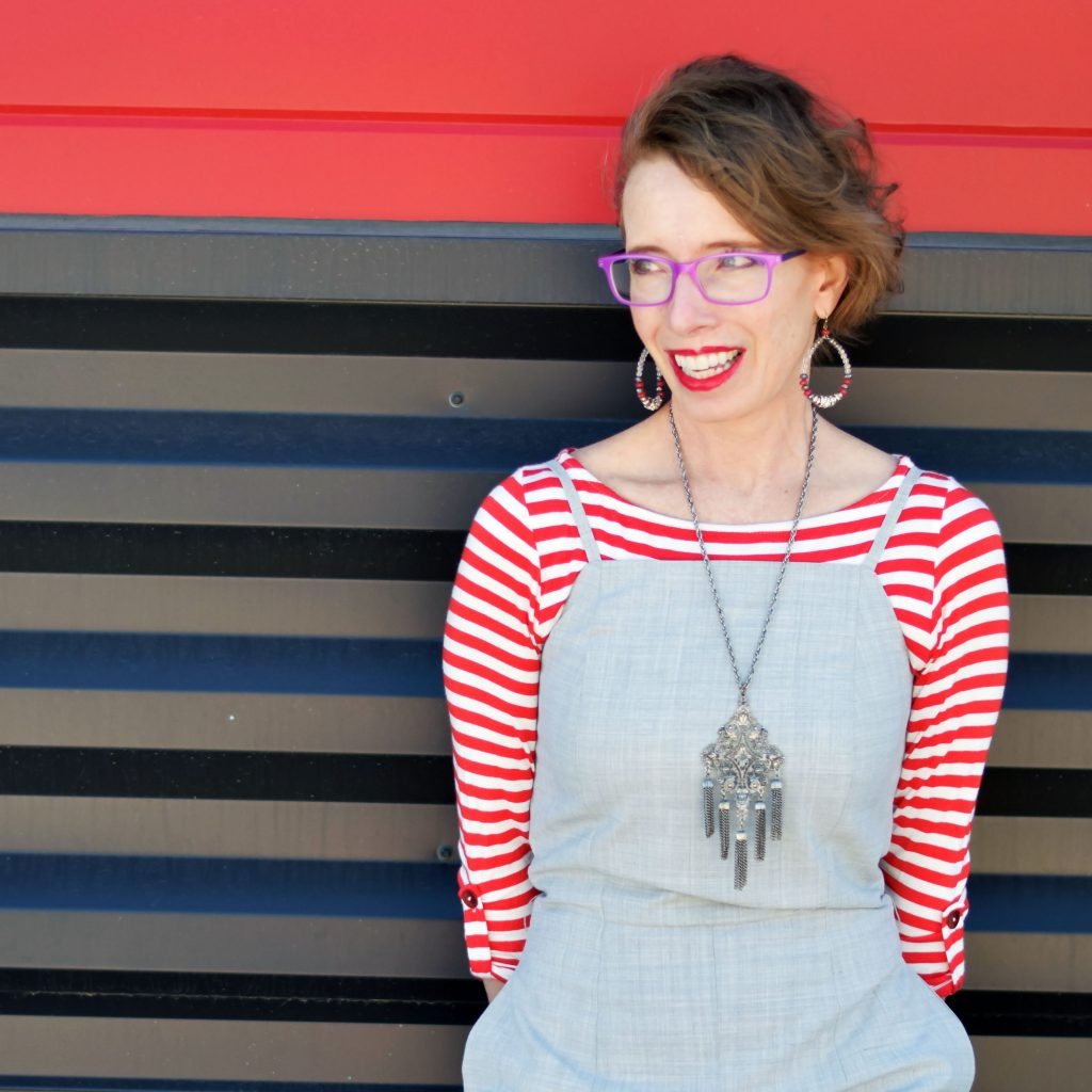 Using thrift tips to buy a striped top from thredUp