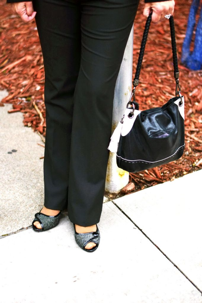 Styling black suits for women over 60