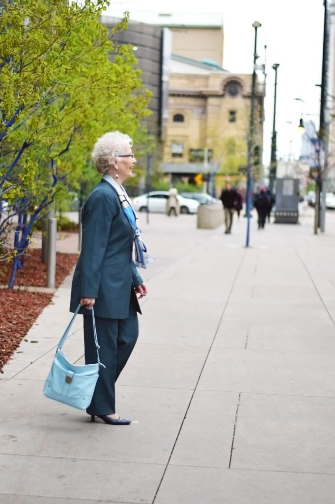 Wearing suits for women over 80
