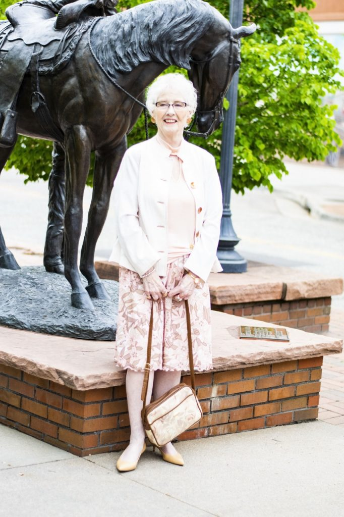 How to style a minimalist top for women over 80 on Jodie's Touch of Style