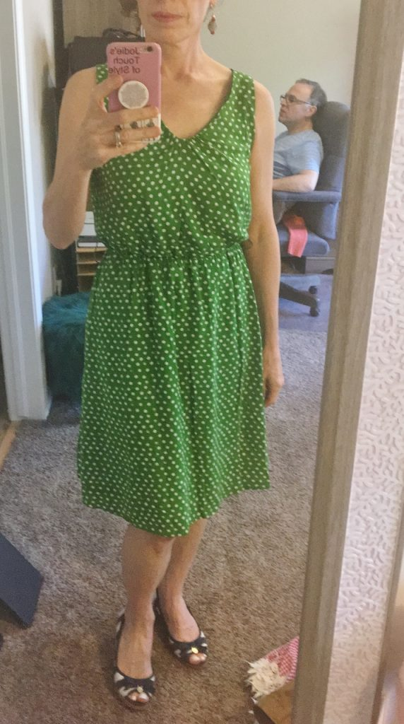 Green dress from Target in June