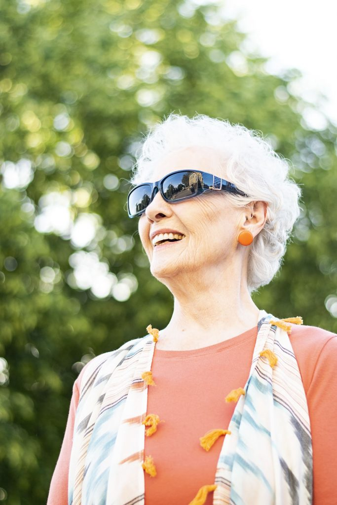 Styling summer clothing material for women over eighty