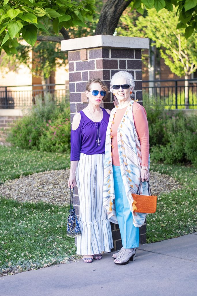 Styling summer clothing material for mother & daughter