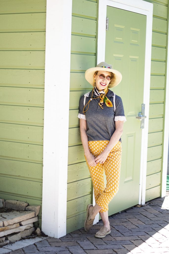 Ladies polo shirts worn by midlife women