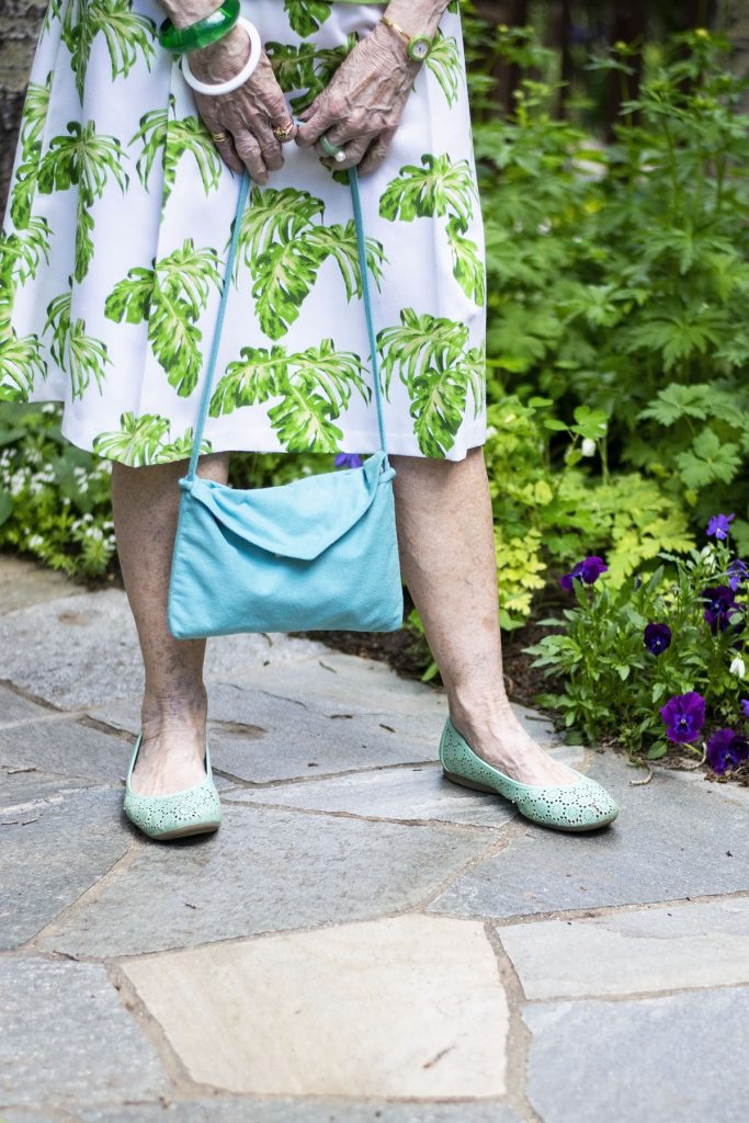 How to Dress up a Polo Shirt with a print skirt