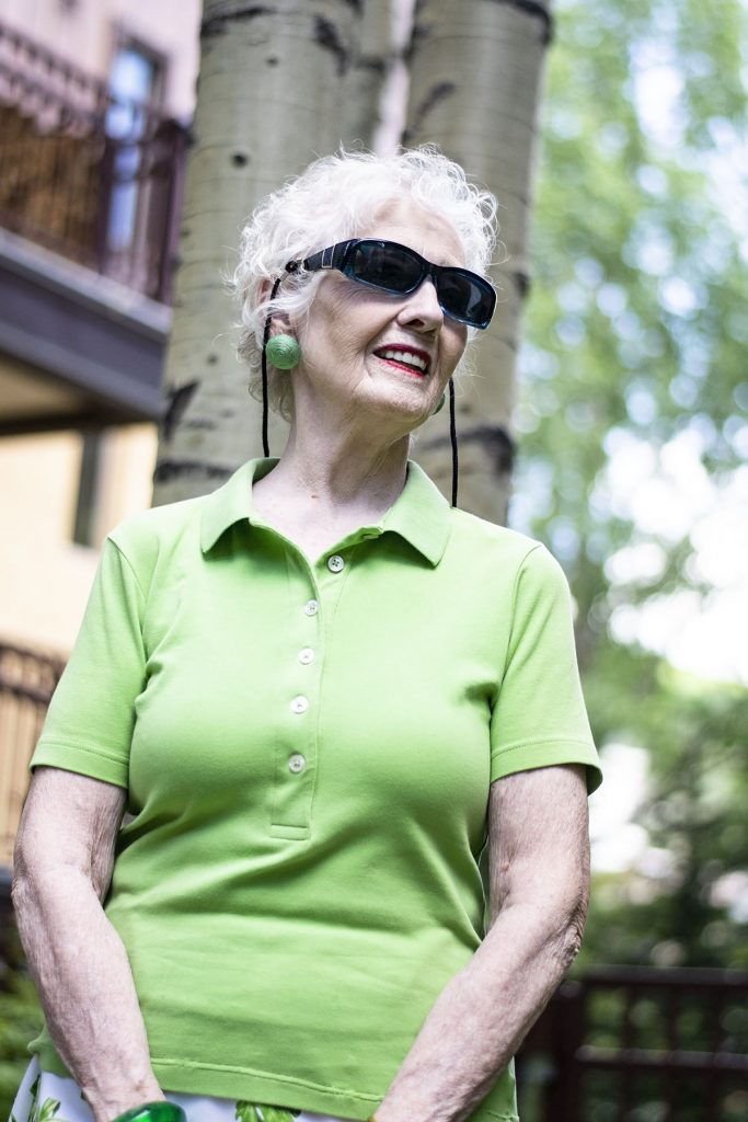 How to Dress up a Polo Shirt for women over 80