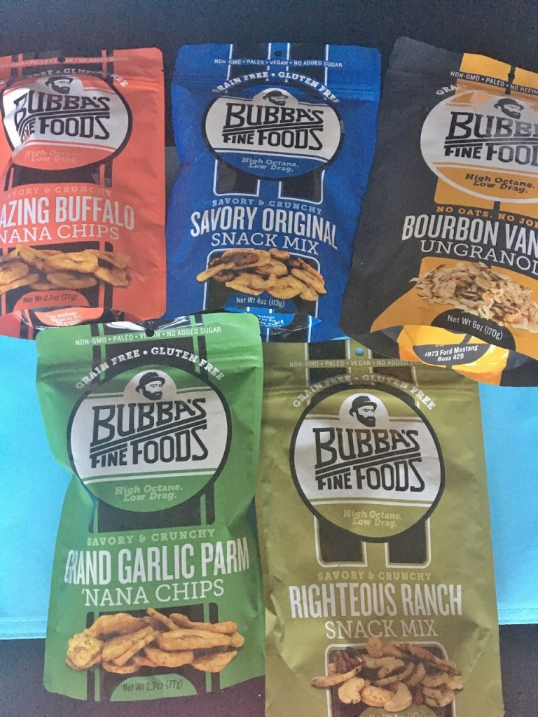 July snacks with Bubbas fine foods