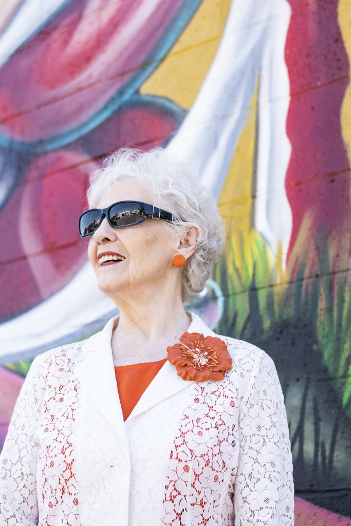 Wearing white in the summer for women over 80