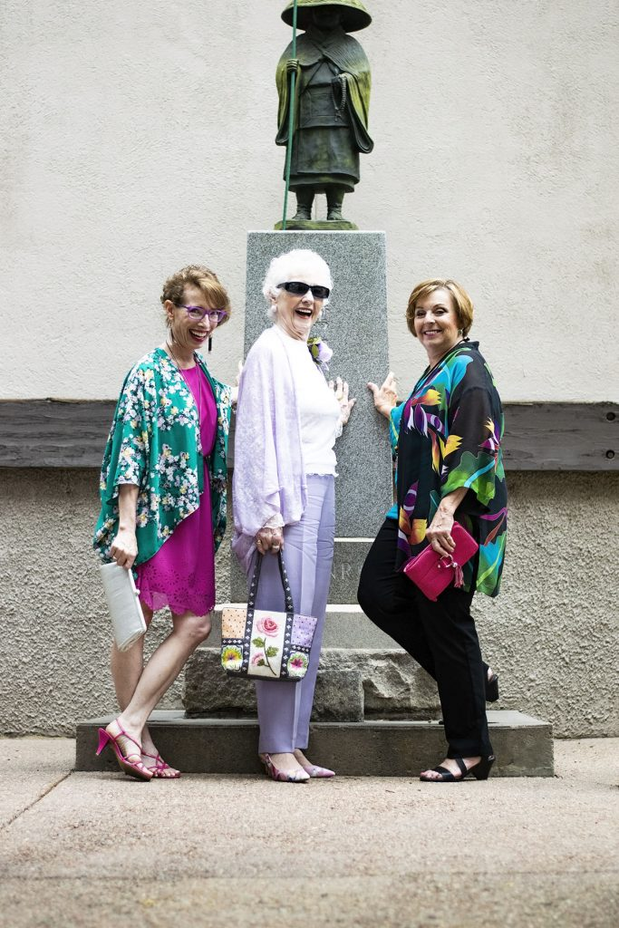 39c6a530aeea Wearing our Summer Kimono Outfits for a Dressy Affair for Women over 50