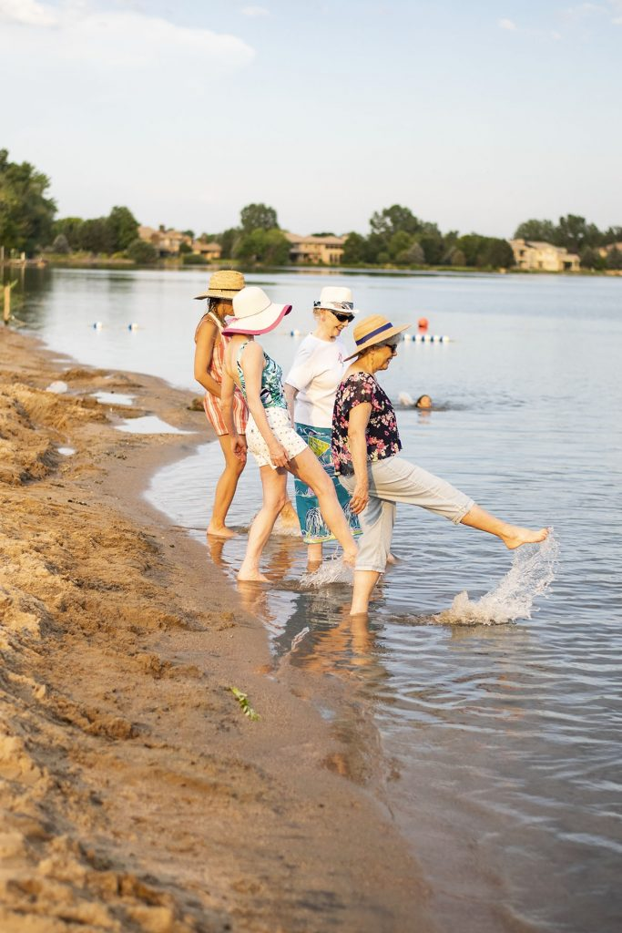 What to wear to the beach for women over 50 for walking in the water