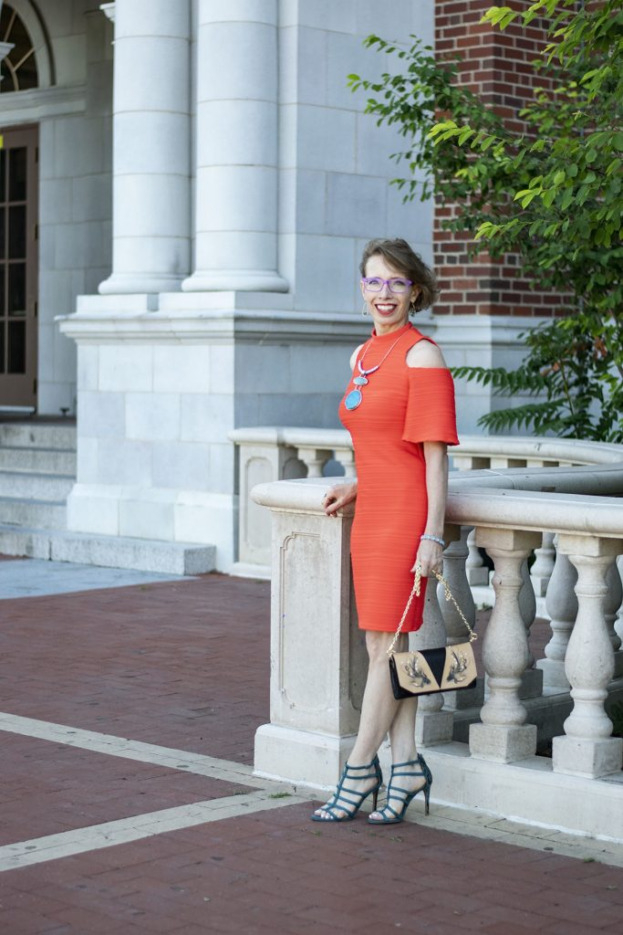 Styling a high school reunion outfit with a dress