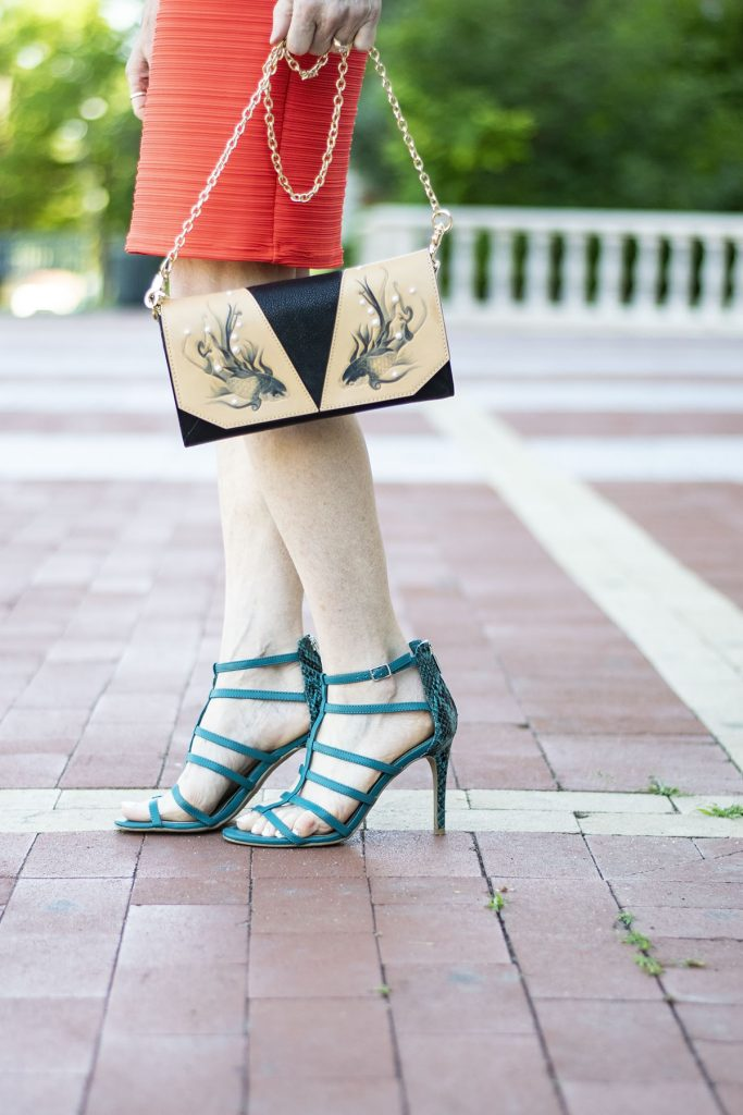Styling a high school reunion outfit with a bellorita purse