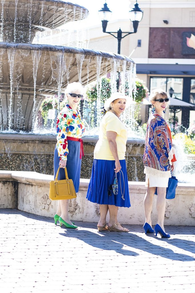 Bright colors for summer for women in different decades over 50
