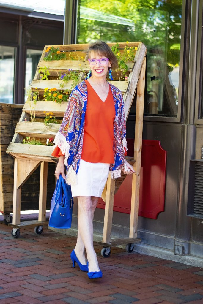 Pairing Bright colors for summer in our outfits for women over 40