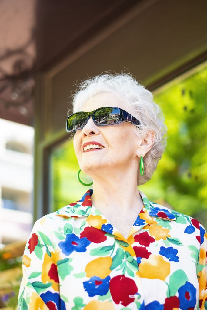 Having fun with Bright colors for summer for women over 70