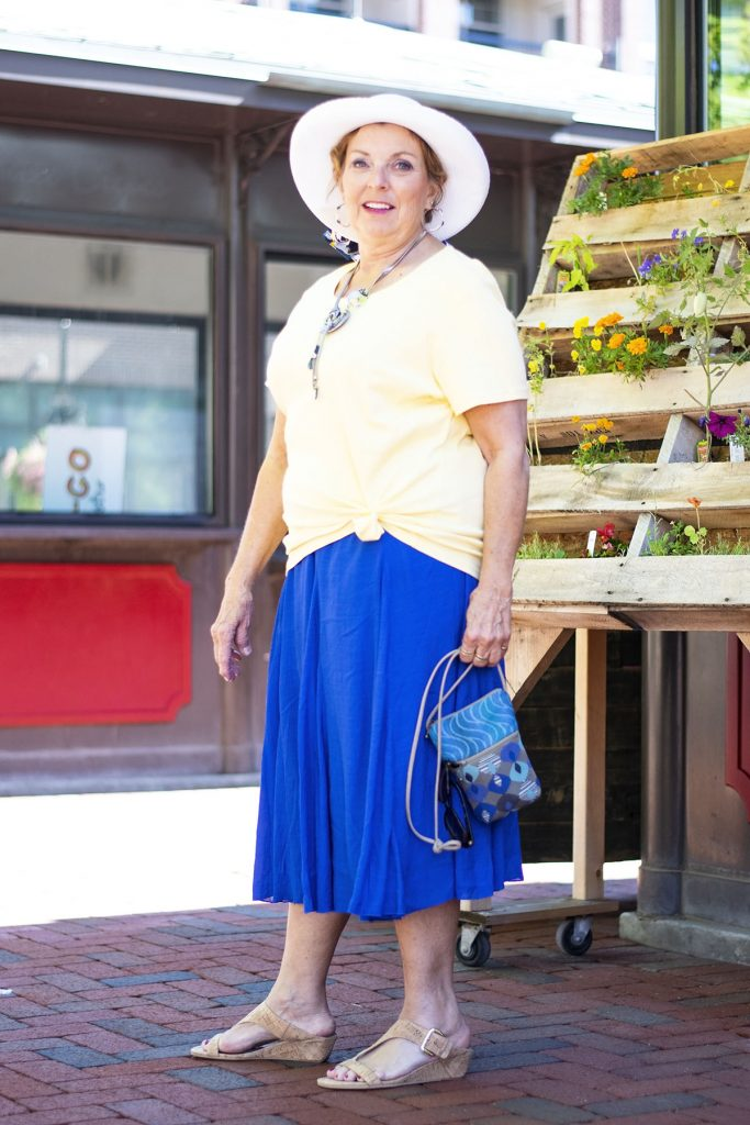 Having fun with Bright colors for summer for women over 60