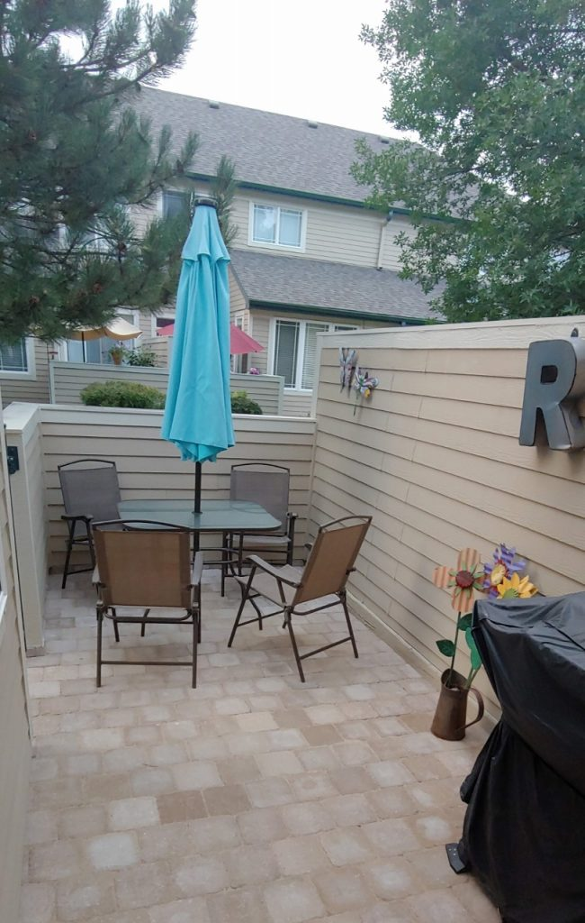 August patio project with pavers