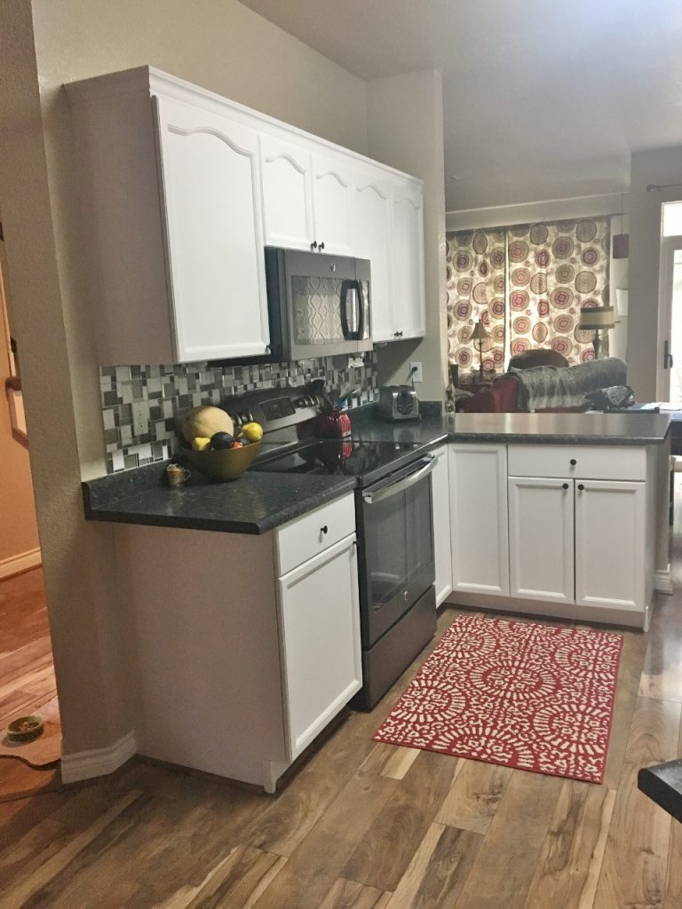Painted kitchen cabinets in August
