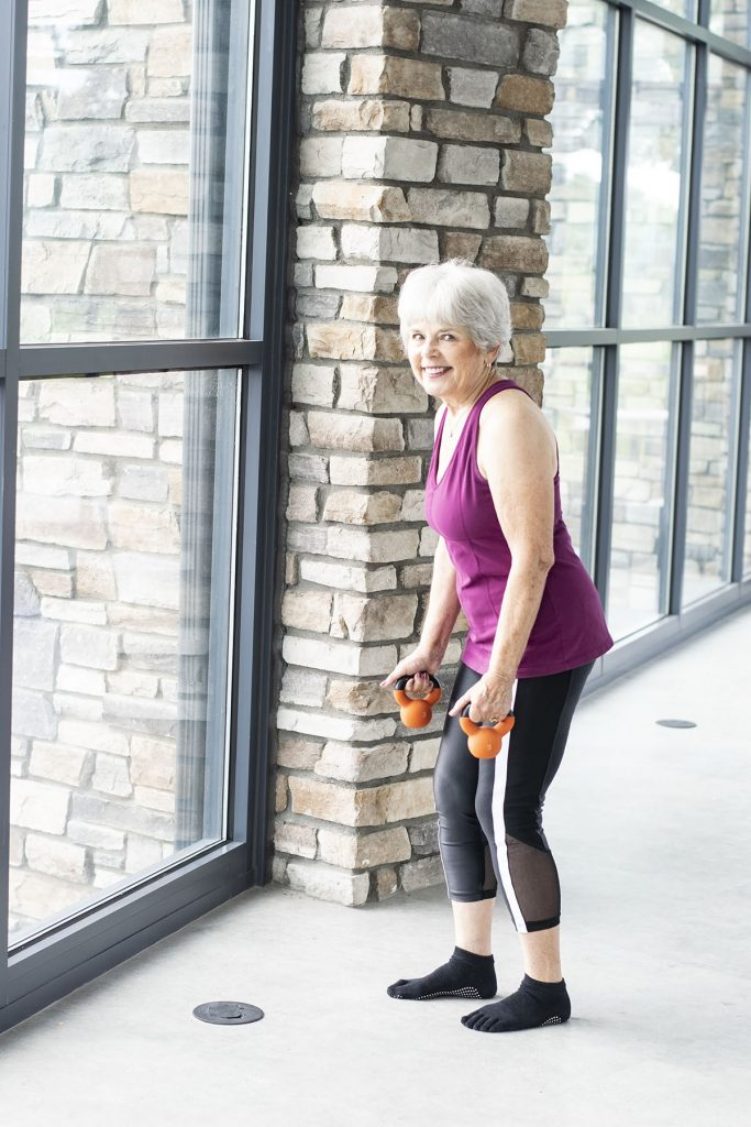 Stylish fitness clothes for women over 50 and for women in their seventies